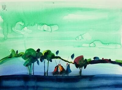 Watercolor on paper 11 (Title unspecified)