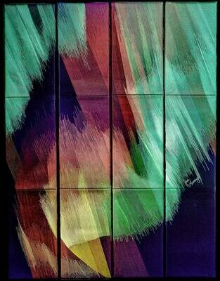 Machine stitching on canvas 02 (Title unspecified)