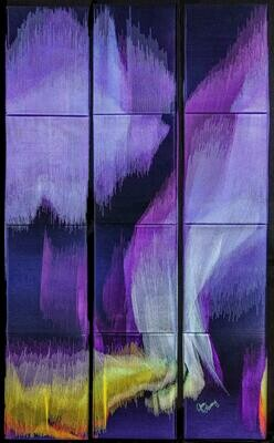 Machine stitching on canvas 06 (Title unspecified)