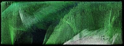 Machine stitching on canvas 15 (Title unspecified)