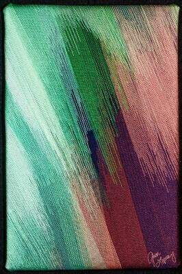 Machine stitching on canvas 16 (Title unspecified)