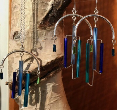 Chandelier Earrings and Necklaces - Silver