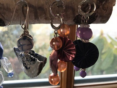 Recycled Nespresso Pods Earrings - Italy