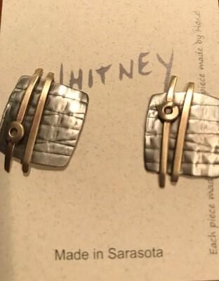 Silver, Brass Earrings - Whitney Designs