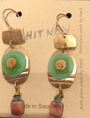 Silver- Polymer Clay Earring - Whitney Designs