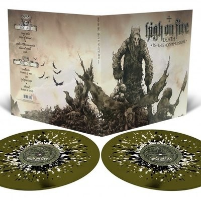 High on Fire - Death is this Communion - 2LP - Swamp Green with Splatter