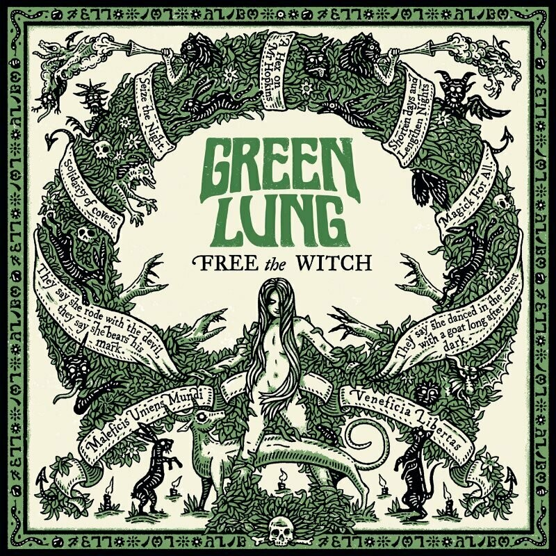 GREEN LUNG - Free The Witch (Incarnadine Red And Funeral Black) LP - Pre-Order