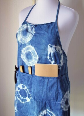Adult apron in plant based indigo dye