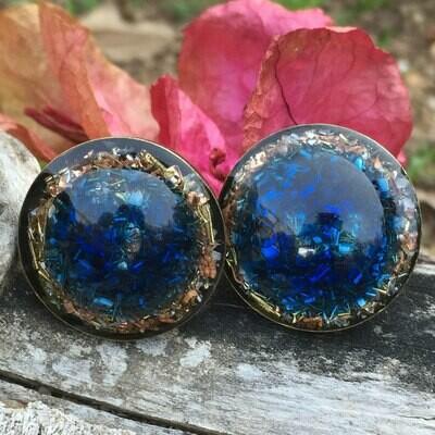 Orgonite Blue Round Ring