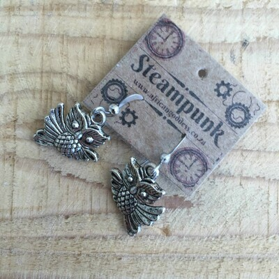 Antique Silver - Owl Earrings