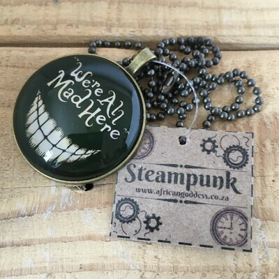 We're All Mad Here 35mm Pendant Necklace