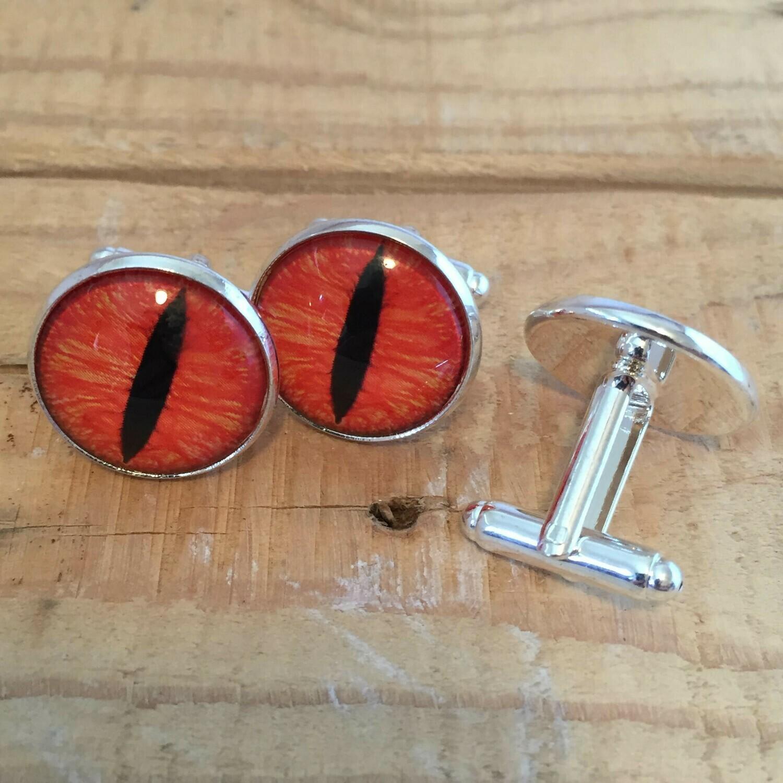 Creature Eye 18mm Cuff Links - Orange