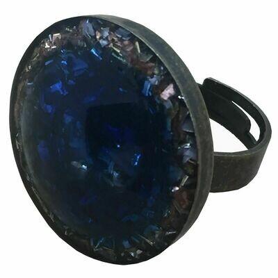 Orgonite Round Ring Blue - Clear Quartz