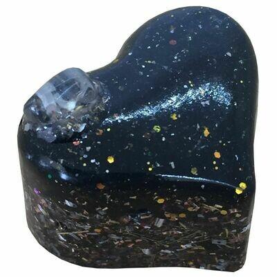 Orgonite Mini Heart -  Black Tourmaline