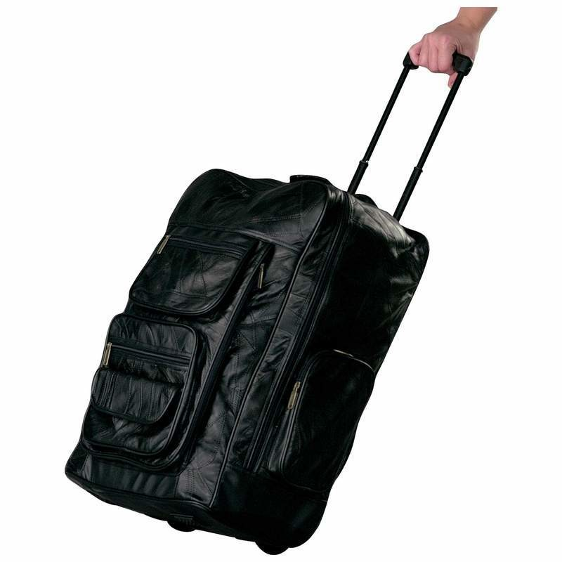 LEATHER ROLLING BACK BAG