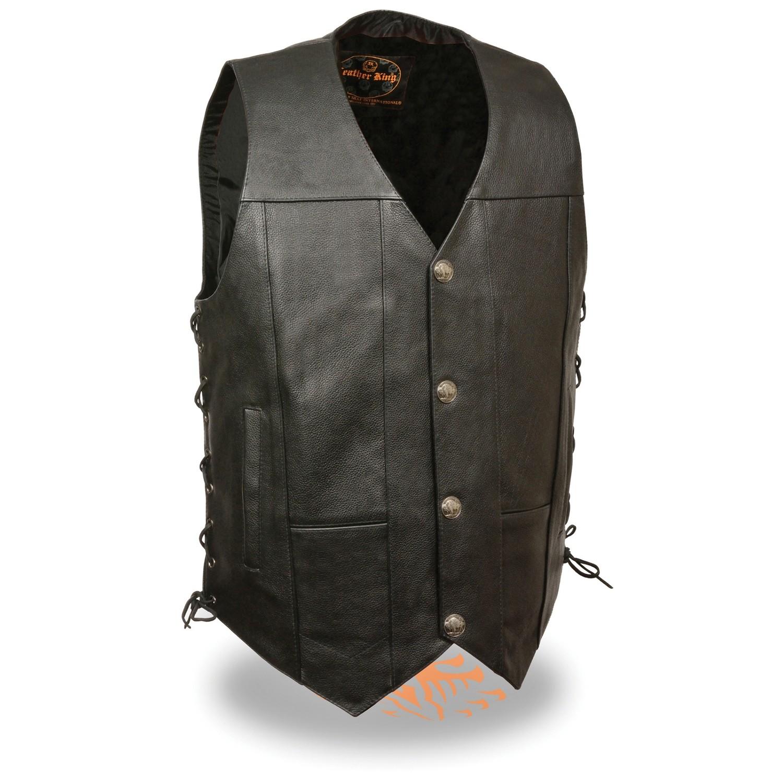 Men Leather Vest Milwaukee Brand