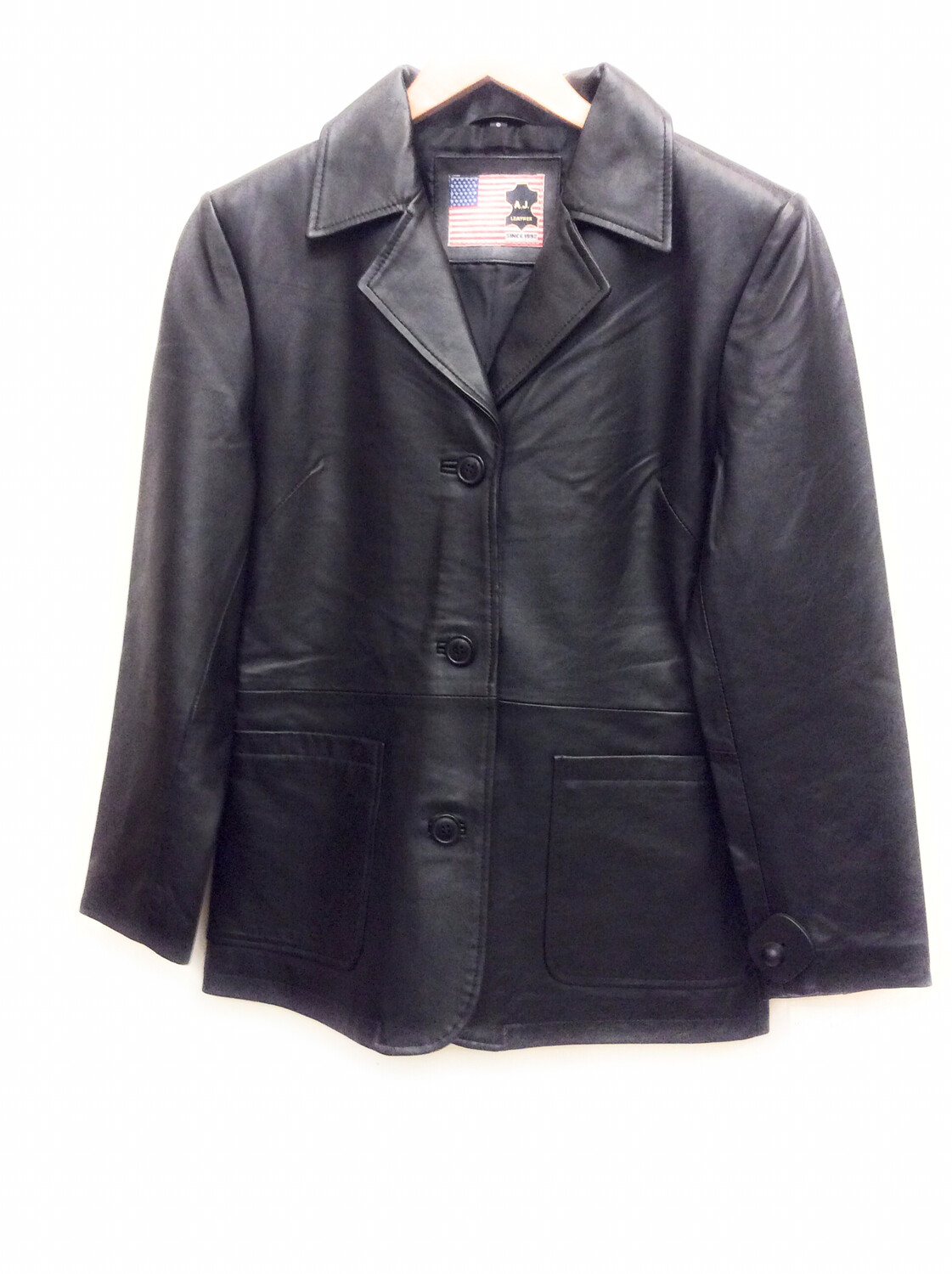 Ladies Lam Leather Jacket Size small