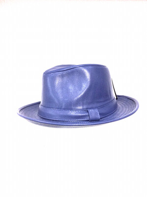 Men fedora hats Pu leather available in size s/m an l/xl color royal blue