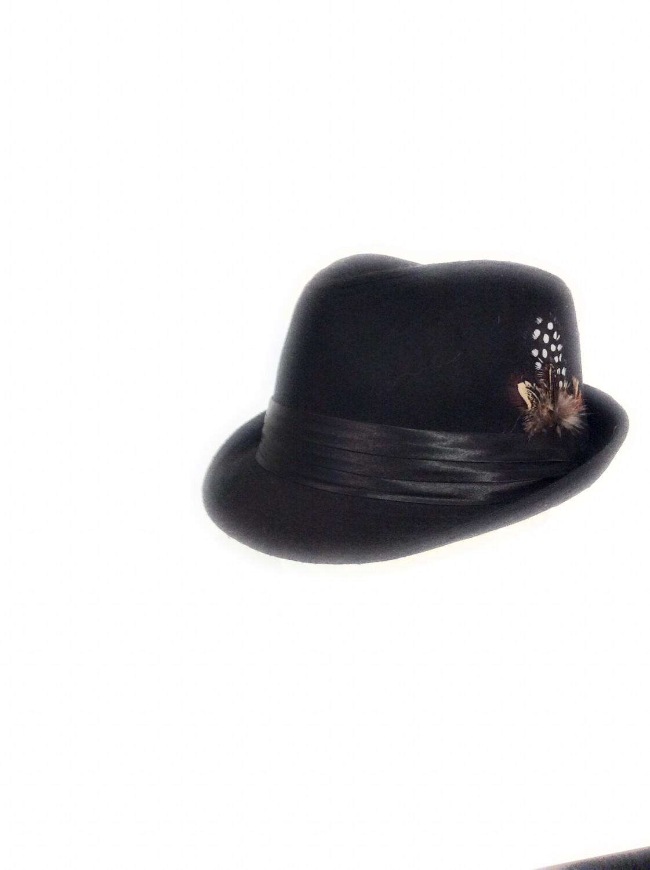 Men Fedora Hats Blac