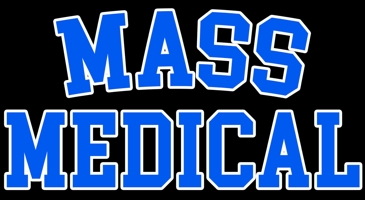 Mass Medical Strains Black T-shirt New Mass Medical College Style Logo