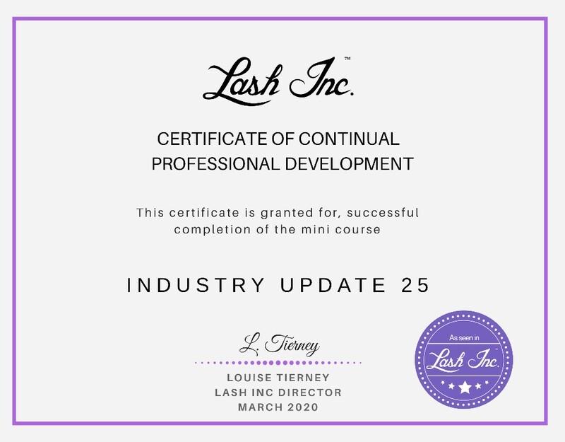 Lash Inc Industry Update Course 2020 #1