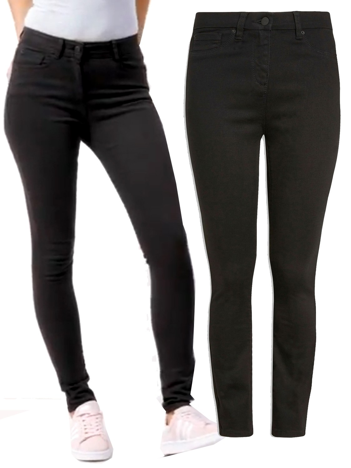 Black Soft Touch Skinny Fit Jeans