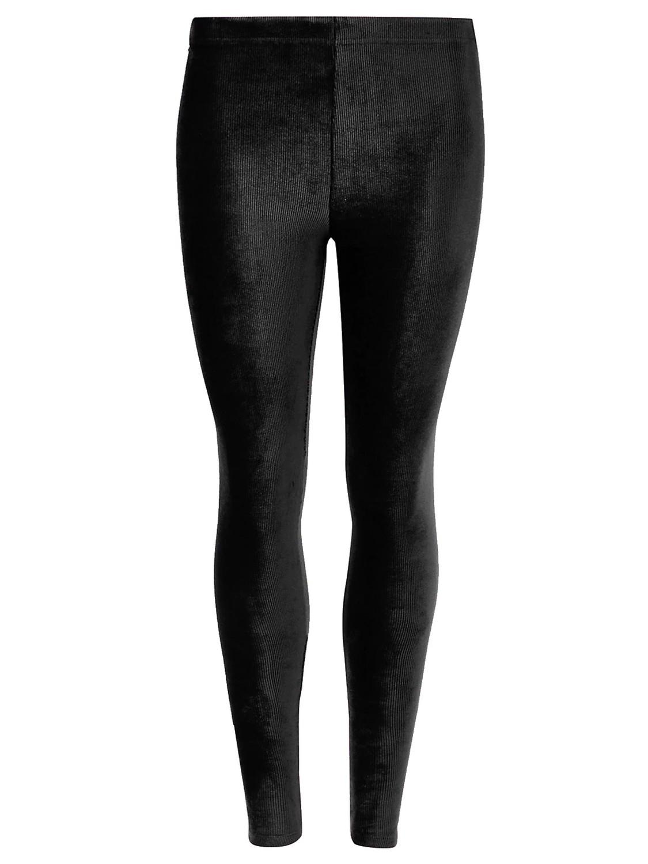 Black Soft Rib Cord Skinny Fit Leggings
