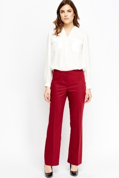 Straight Fit Smart Trousers
