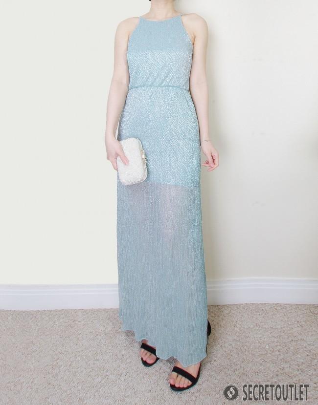 Mint Petites Shimmer Maxi Dress