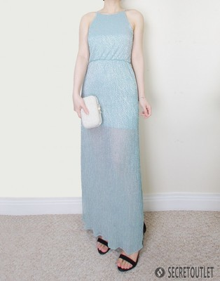 Mint Petites Shimmer Maxi Dress