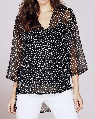 Georgette Wrap Printed Blouse