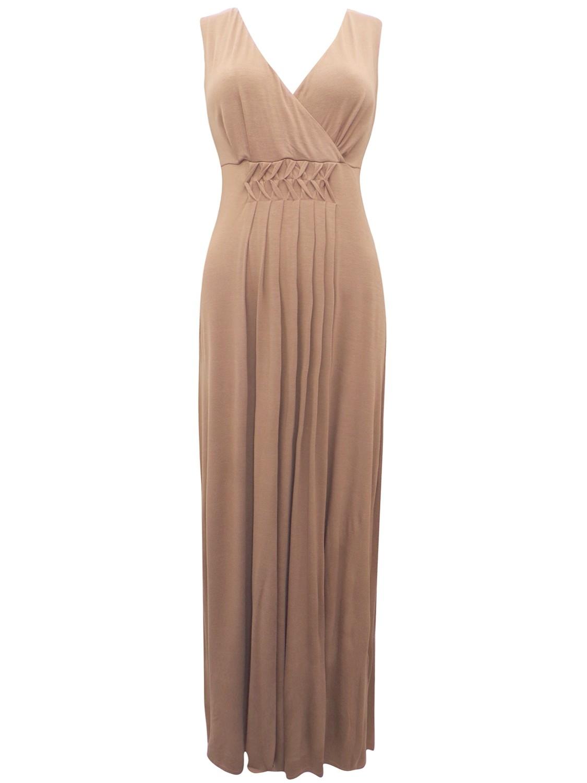 Twist Pleat Jersey Maxi Dress