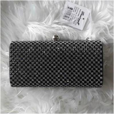 Glitter Clutch Bag Black