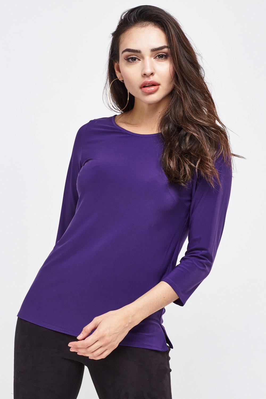 Purple Tie Back Top