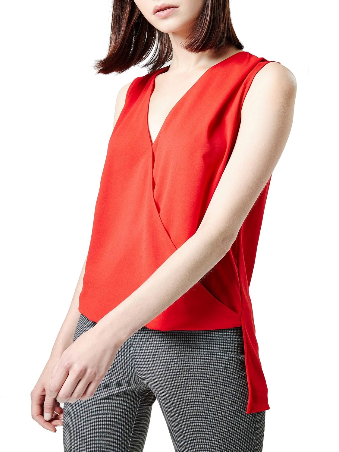 Sleeveless Drape Shell Top Red by NEXT