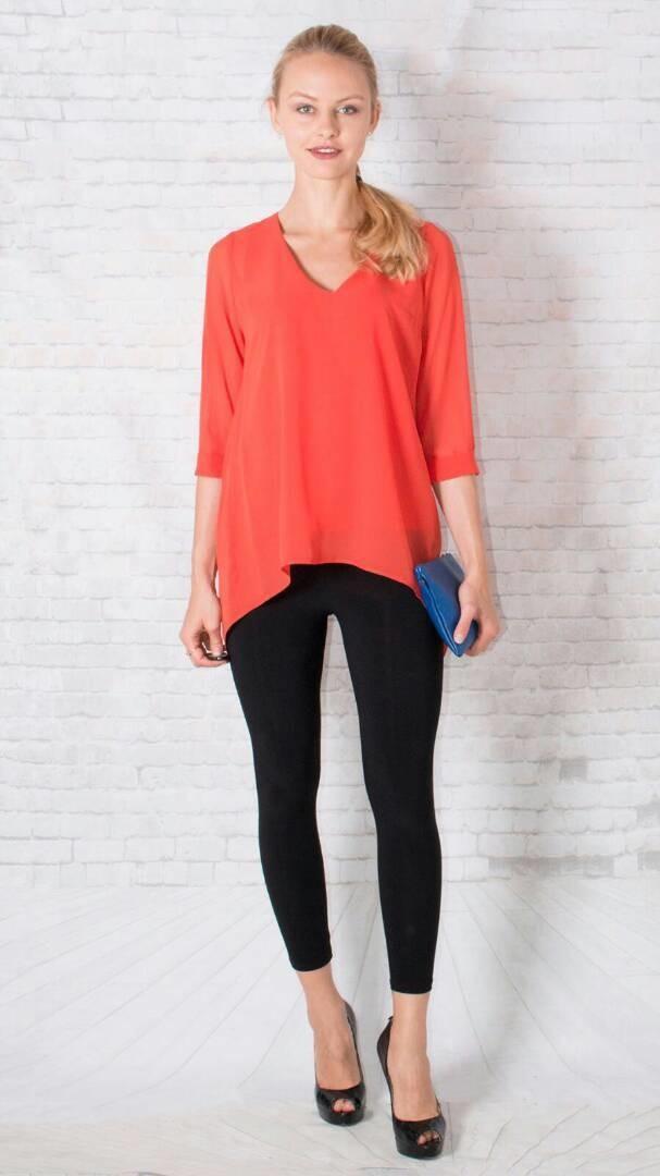 Slit back blouse Orange