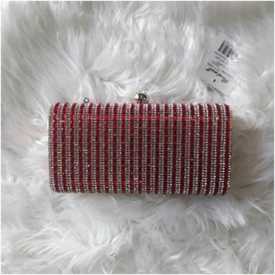 Glitter Clutch Bag Red