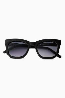 Black D Frame Square Sunglasses