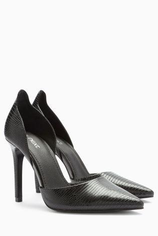Black Leather Court Next Shoes