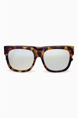 Next tortoiseshell effect mirrored lens square sunglasses