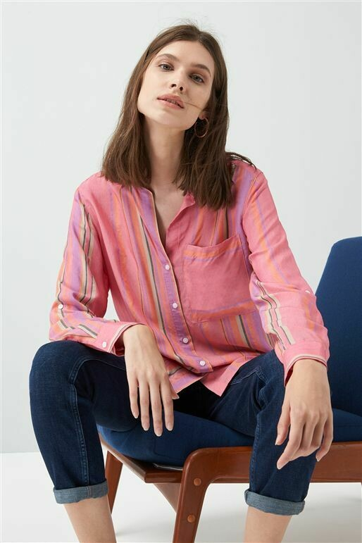 Pink Multi Stripe Shirt