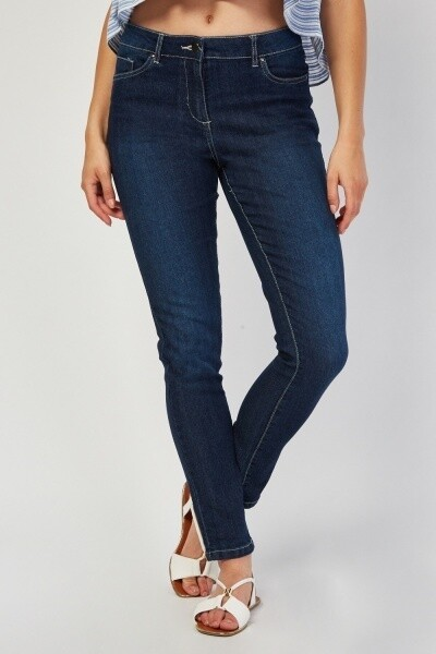 Skinny Fitted Denim Blue Jeans