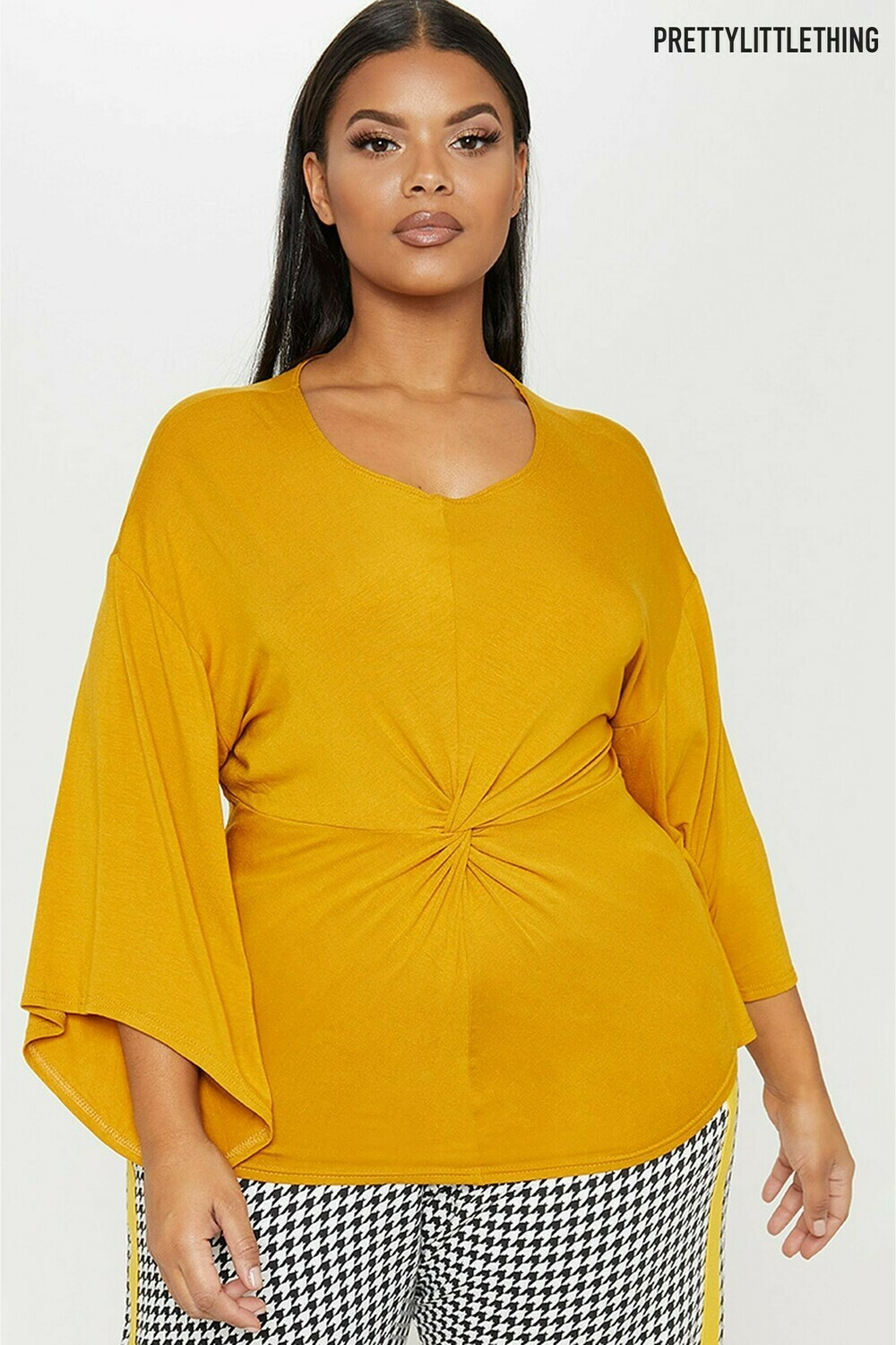 Curve Knot Front Jersey Top