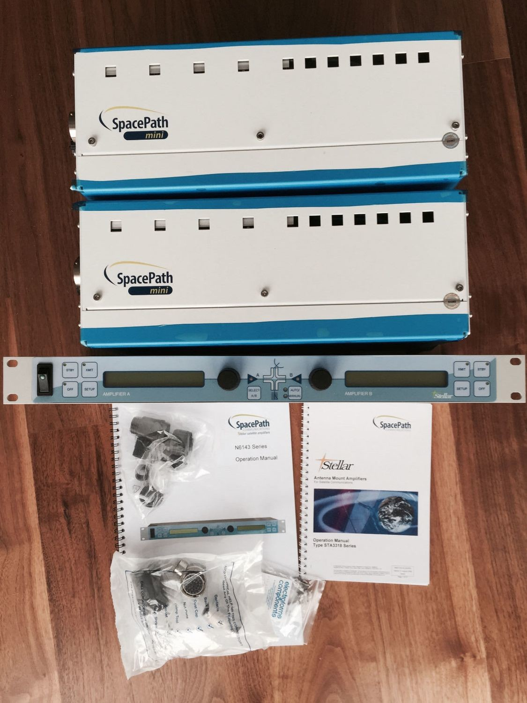 180 Watt Space-Path STA3318 Mini BUC 13.75-14.5GHz ext. KU TWTA HPA L-Band Xicom
