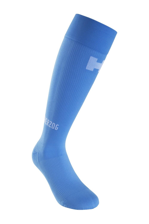 Herzog Pro blauw compressiekousen