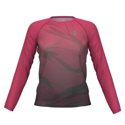 Scott t-shirt l/s Kinabalu dames pink/black