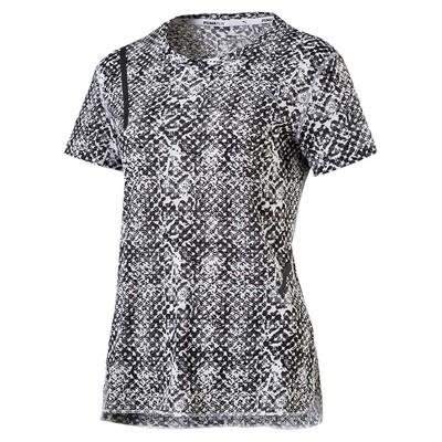 Puma Graphic s/s t-shirt dames zwart/wit