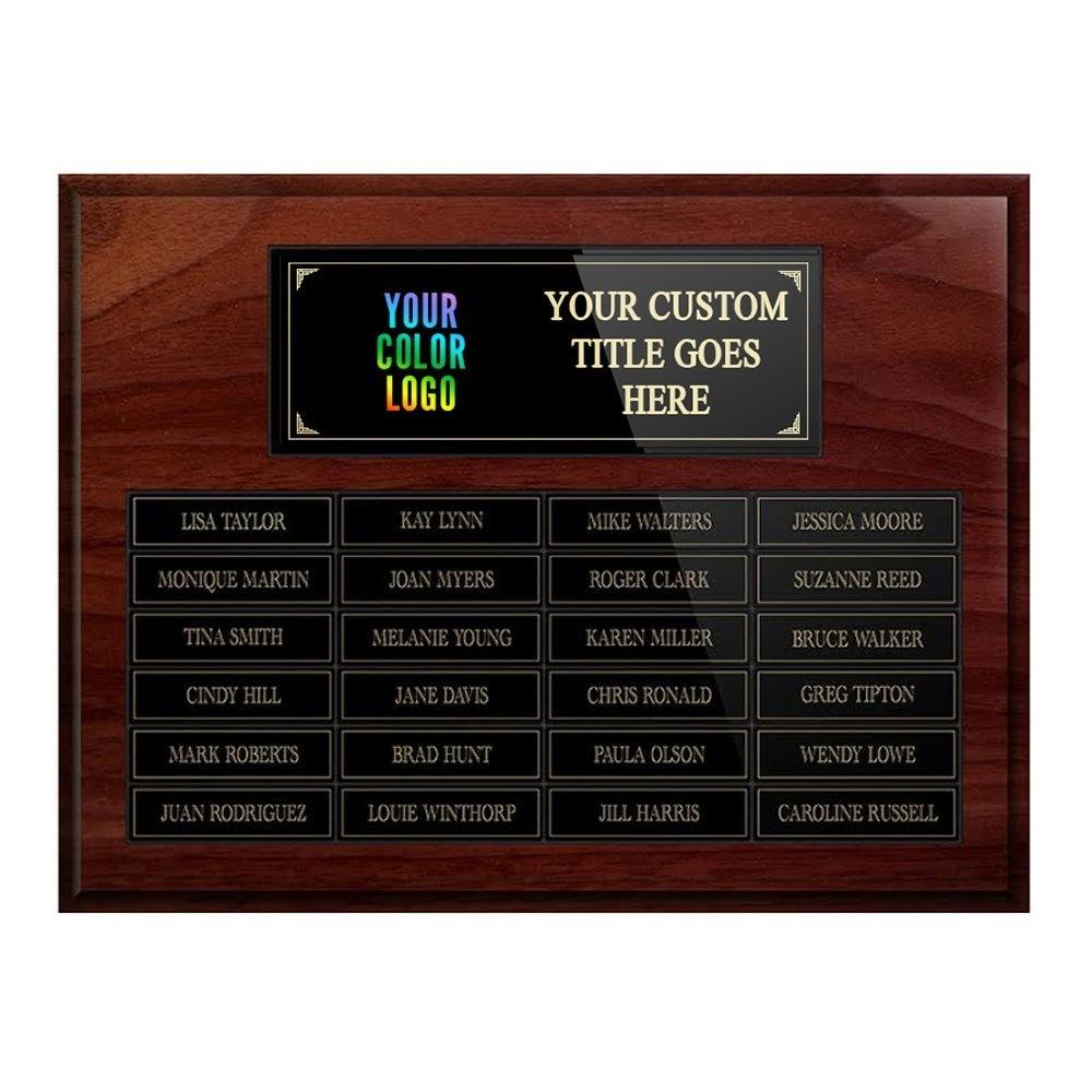 24-plate Custom Perpetual Wall Plaque