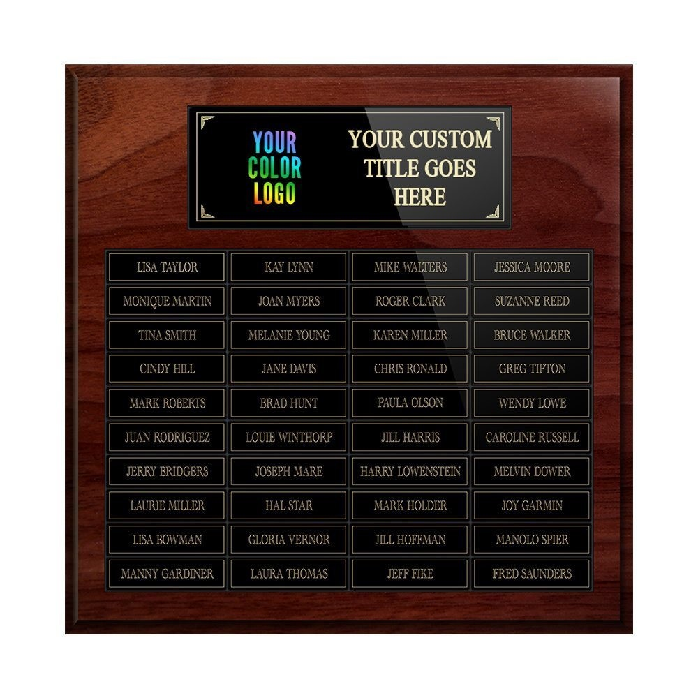 40-plate Custom Perpetual Wall Plaque