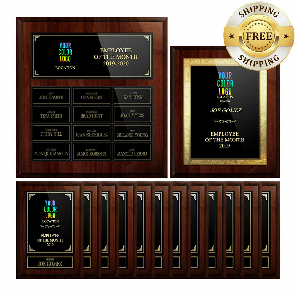 1 Full Year Employee of the Month Plaque Program